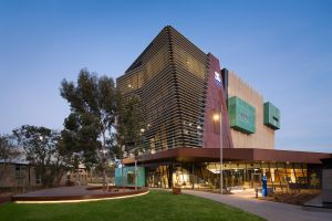 Photograph of the Werribee campus for Zoom background