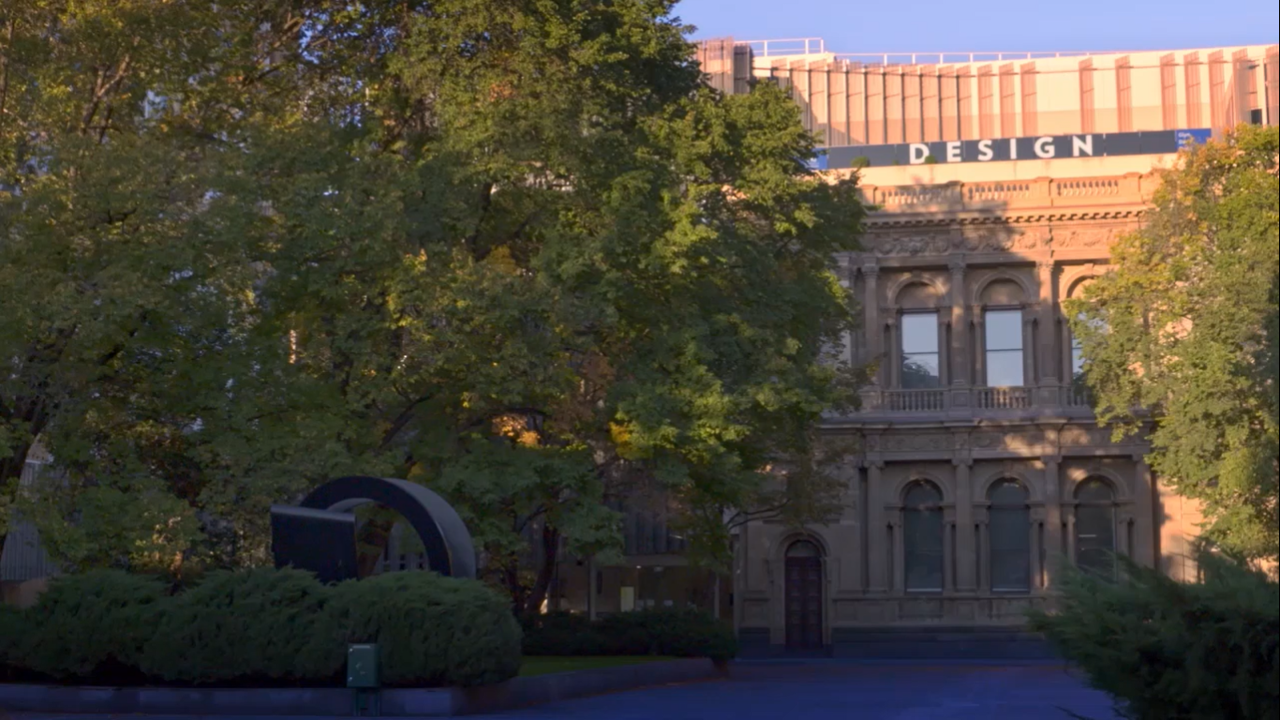 Photo of the Melbourne School of Design Building for zoom video background